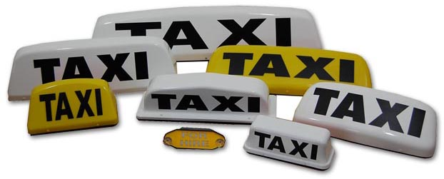 Taxi roof signs